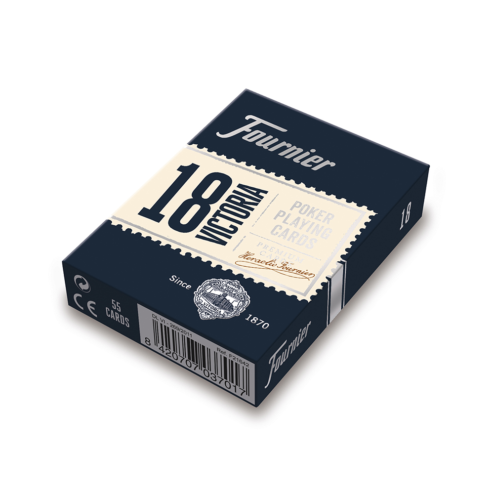 Nº18 poker playing cards (2 Standard Index) - Blue